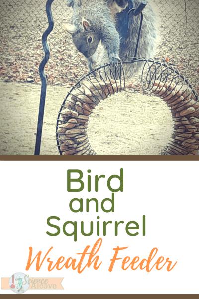 Whole Peanut Bird and Squirrel Wreath Feeder
